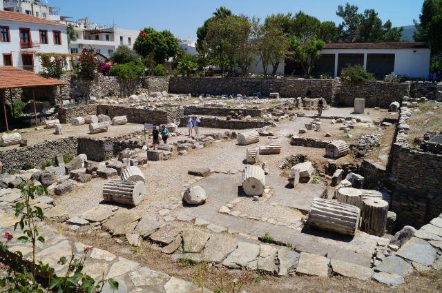 A Day in Bodrum Turkey - Mausoleum at Halicarnassus in ruins