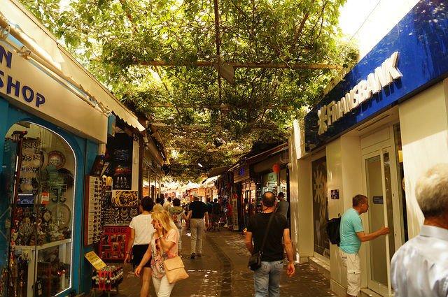 A Day in Bodrum Turkey - Shopping street in Bodrum