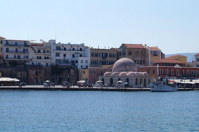 A Day in Crete, Greece - Chania Greece harbor