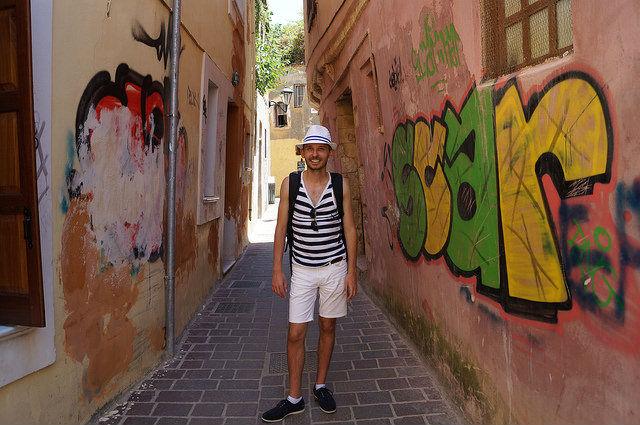 A Day in Crete, Greece - Graffiti in Chania Crete Greece