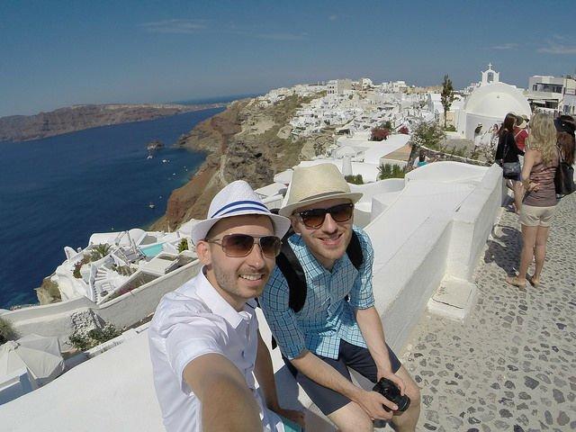 Stunning Santorini Greece - Shawn and Roman in Oia Greece