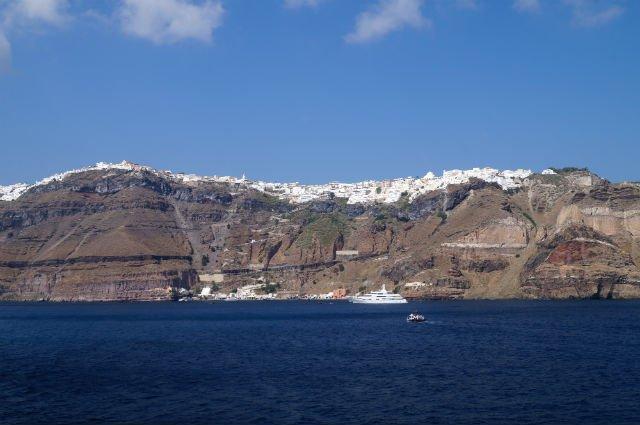Stunning Santorini Greece - Thera from the sea