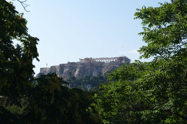 Sunday in Athens Greece - Acropolis from below