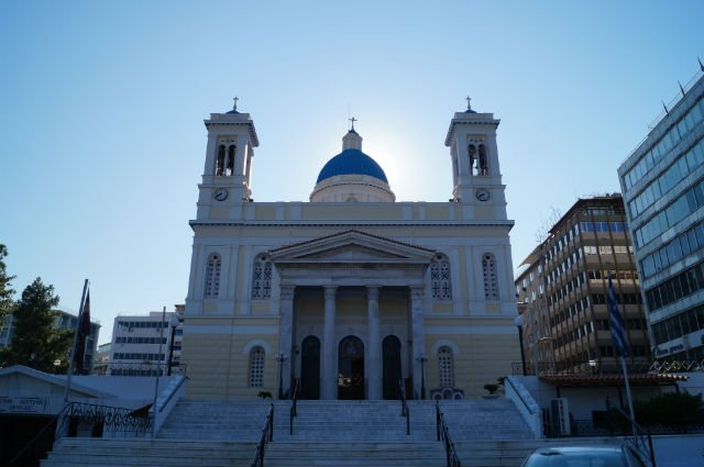 Sunday in Athens Greece - Greek Church in Piraeus