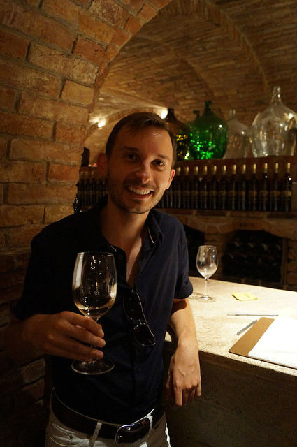 Napa Valley - Shawn still sober at Castello di Amorosa
