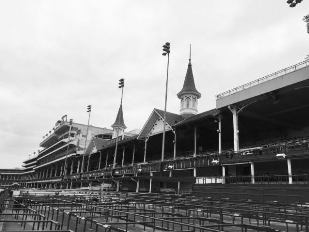 Kentucky - Churchill Downs in black and white