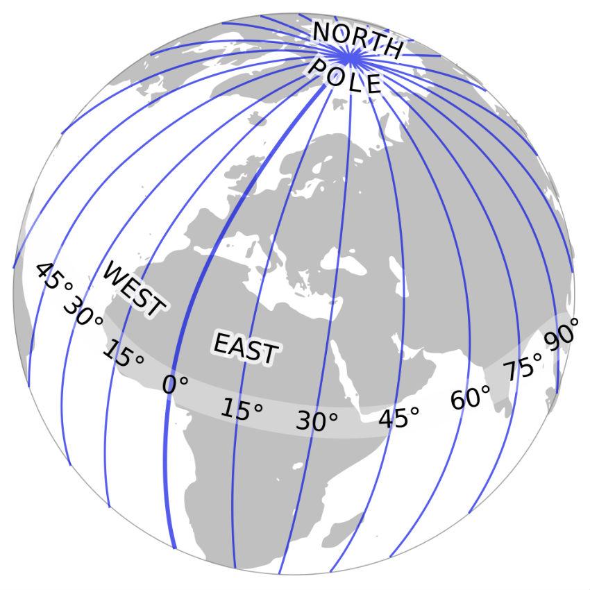Longitude Map