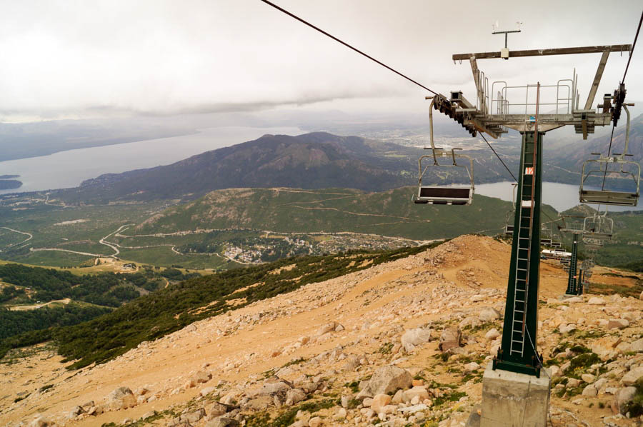 The chairlift down Cerro Catedral
