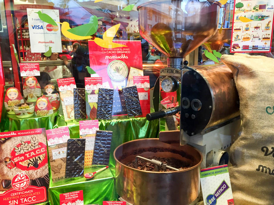 Chocolates at a store called Mamuschka