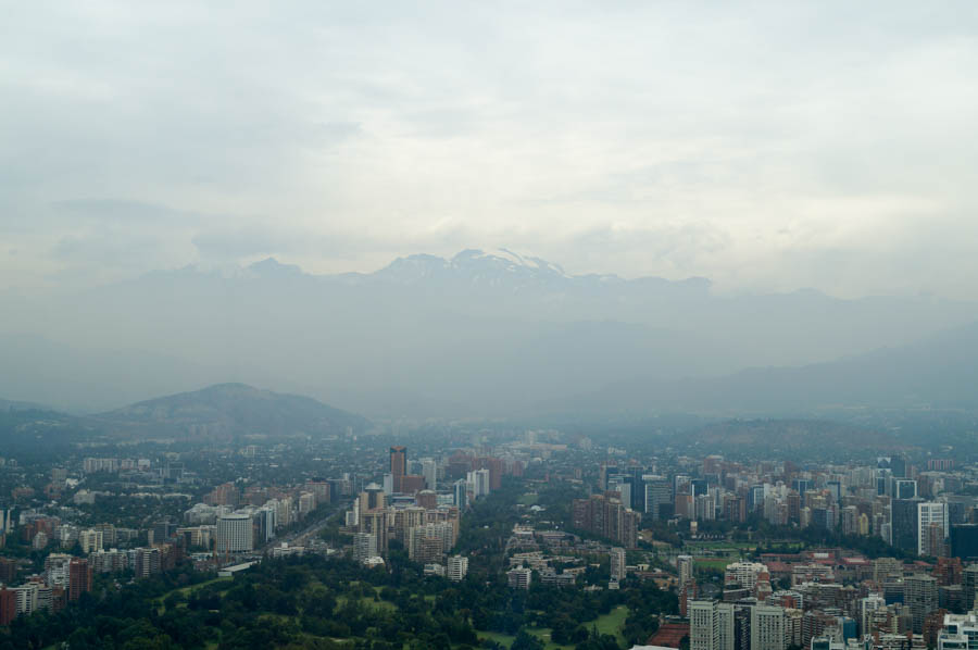 The Andes mountains from Sky Costanera