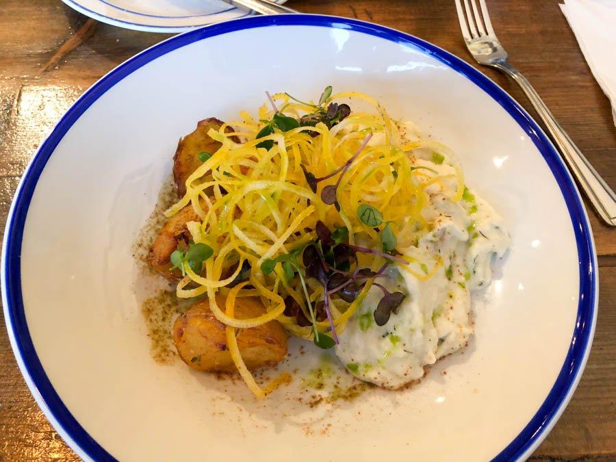 Icelandic haddock and potatoes