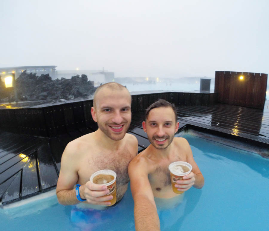 Roman and I in the Blue Lagoon