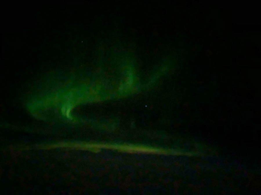 The Aurora between Canada & Greenland
