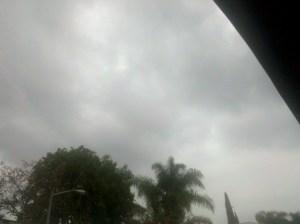 Pregnant, moody cloud