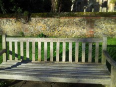 An old bench, to rest and enjoy the day, donated by our local dignitaries