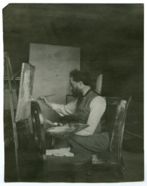 Augustus John painting Shaw's portrait at Coole - taken by GBS