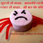 Gusse wale status in hindi