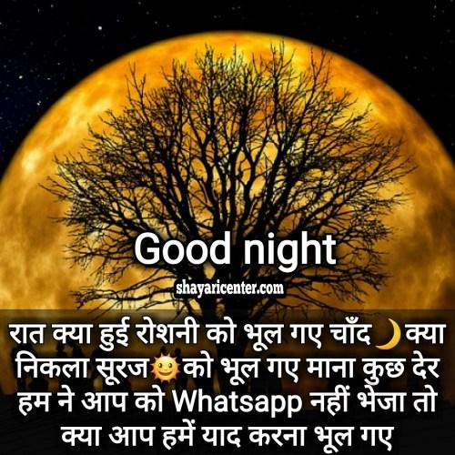 new good night shayari image