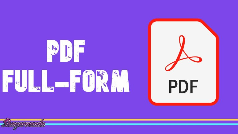 What is PDF Full Form and Its Type