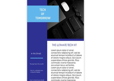Tech Of Tomorrow Email Template