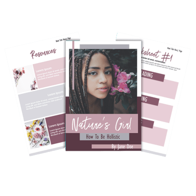 Nature's Girl Ebook Template
