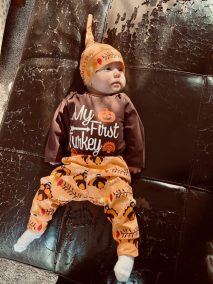 Baby in Turkey Onesie
