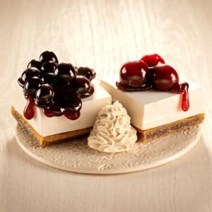 Fruit cheesecakes