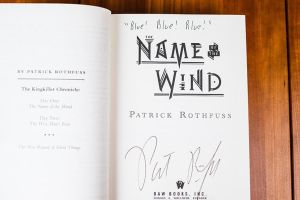 10th Anniversary Name of the Wind – Signed and Quoted