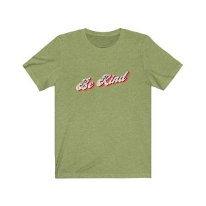 Vintage Style Be Kind Tee – Heather Green / L