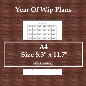 A4 Size – Year of Wips Page