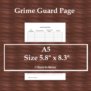 A5 Size – Grime Guard Stash Page