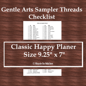 CHP – Gentle Arts Sampler Thread Checklist