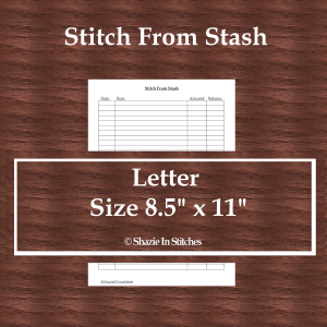 Letter Size – Stitch From Stash Page