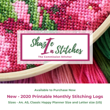 Now Available To Purchase – 2020 Monthly Stitching Logs