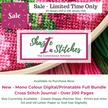 CHP Size – Mono Digital/Printable Full Bundle Cross Stitch Journal