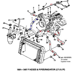 LT1 swap radiator hose questions (with diagram for future reference)  Third Generation FBody