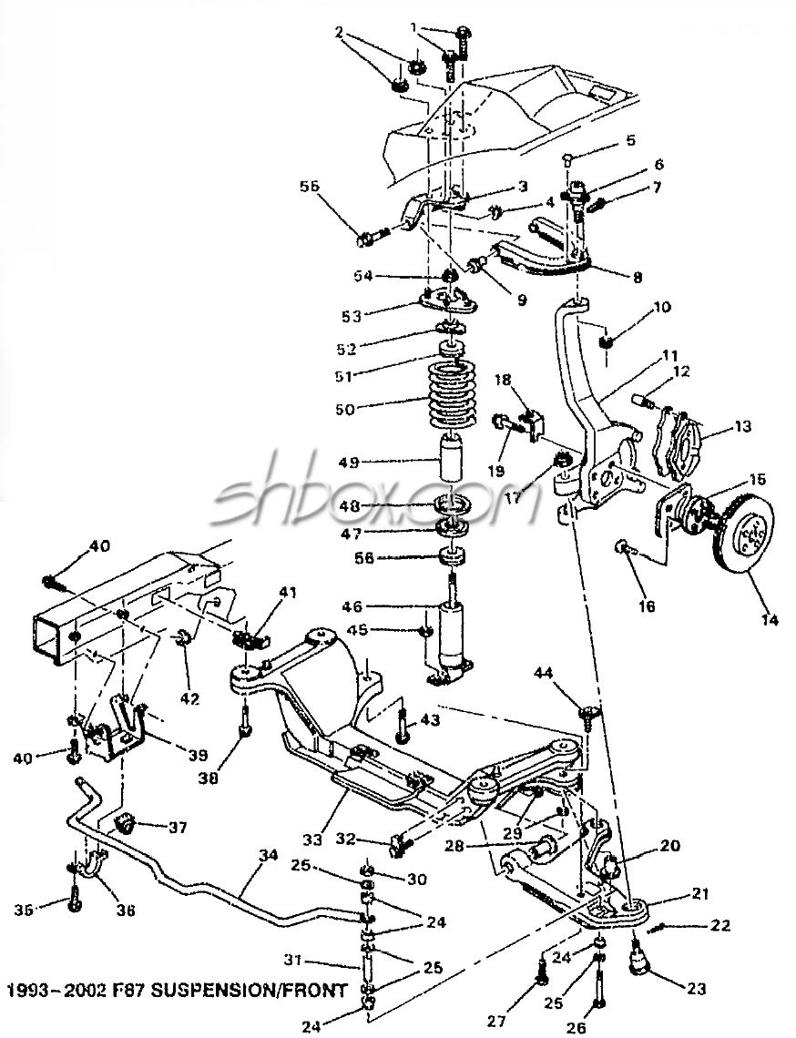 4th gen lt1 f body tech aids drawings exploded views rh shbox gmc jimmy suspension diagram gmc envoy suspension diagram