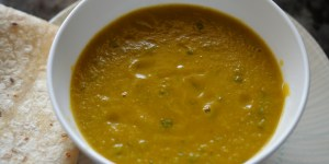 Lightly Spiced Carrot Lentil Soup