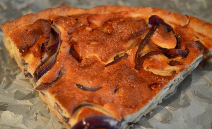 Seriously Easy Cheese and Onion Tart