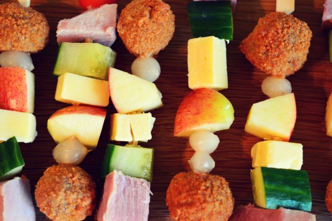 Ploughman's on a stick– the perfect picnic kebab