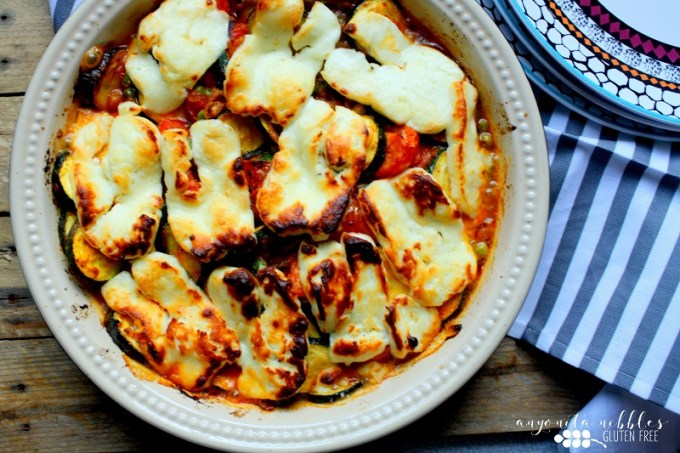 Gluten Free Halloumi Vegetable Bake / SHE-EATS / Anyonita Nibbles guest post