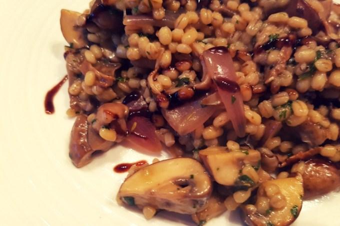 Mushroom Barley Risotto / SHE-EATS.com