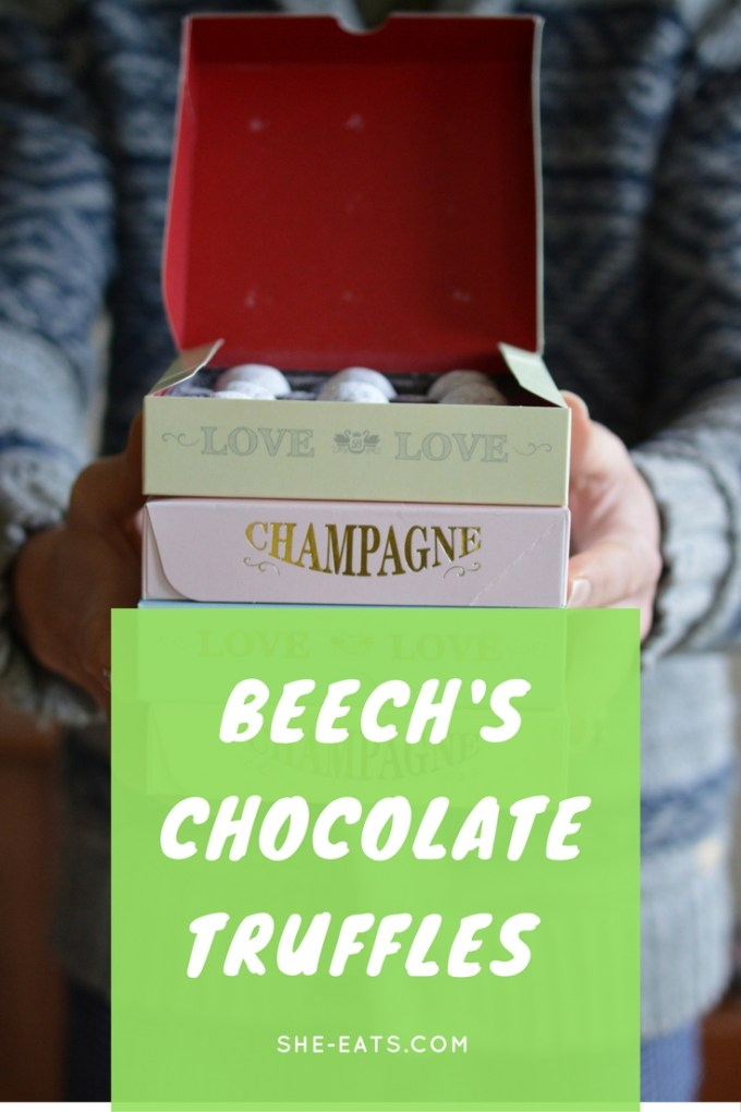 Pinterest image for Beech's boozy chocolate truffles