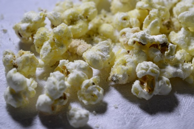 Savoury popcorn close up/ SHE-EATS