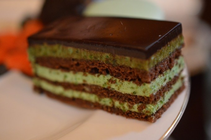 A chocolate opera cake / The Courthouse Knutsford / Afternoon Tea / SHE-EATS