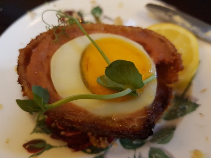 Half a scotch egg / The Courthouse Knutsford / Afternoon Tea / SHE-EATS