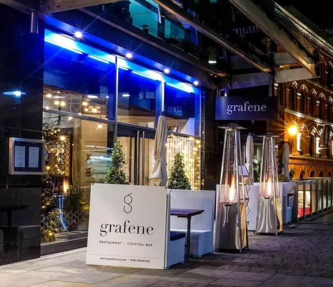 Exterior of Grafene, Manchester / SHE-EATS