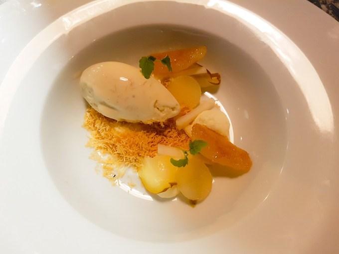 A plate of dessert at Grafene Manchester