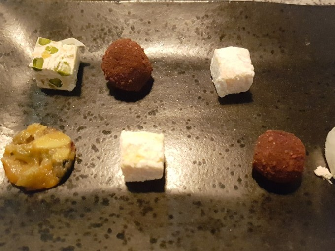 Plate of petit four treats at Grafene Manchester