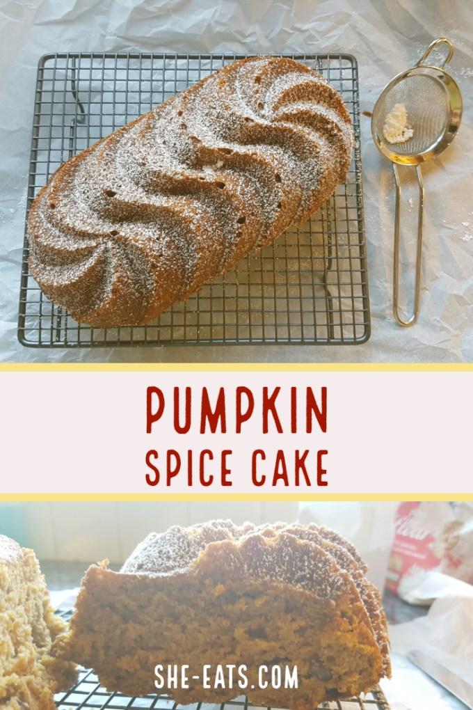 Pecan pumpkin spice cake recipe / SHE-EATS